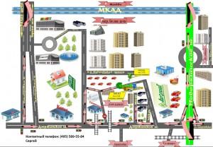 ГЕЛИНТА схема проезда на склад